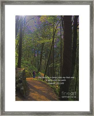 A Light Unto My Path Framed Print by Charles Robinson