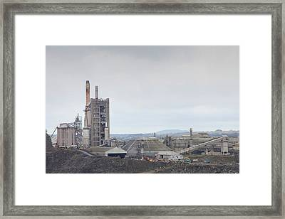 A Limestone Quarry In Clitheroe Framed Print by Ashley Cooper