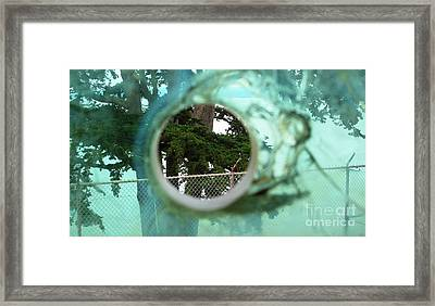 Framed Print featuring the photograph A Limited Point Of View by Ethna Gillespie
