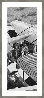 A Lindbergh Airplane In The Arizona Desert Framed Print by Artist Unknown