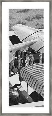 A Lindbergh Airplane In The Arizona Desert Framed Print by Lemon