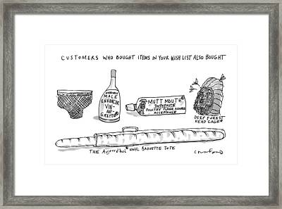 A List Of What Other Customers Bought Based Framed Print by Michael Crawford