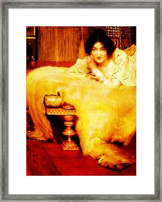 A Listener By Sir Lawrence Alma Tadema Framed Print by MotionAge Designs