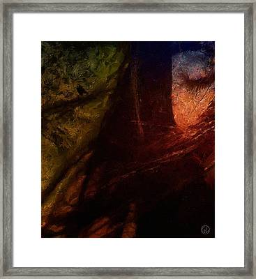 A Little Afraid Of The Falling Night Framed Print