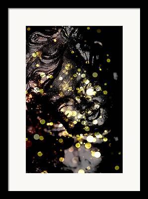 Headstones Mixed Media Framed Prints