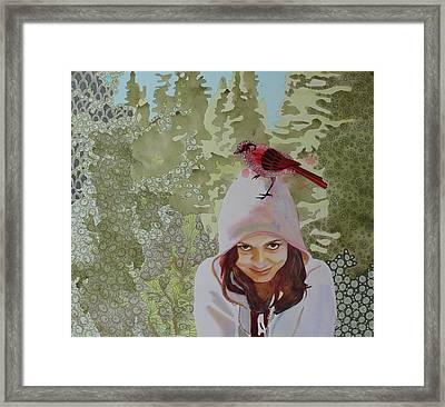 A Little Birdie Told Me Framed Print by Sandrine Pelissier