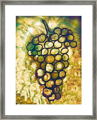 A Little Bit Abstract Grapes Framed Print by Jo Ann