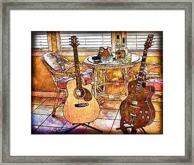 A Little Bit Country-a Little Bit Blues Framed Print