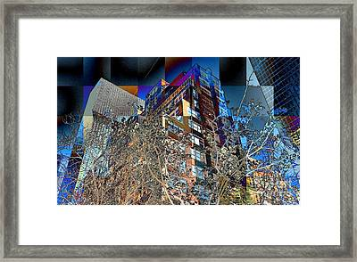 A Little Bit Of Spring In The City Framed Print by Miriam Danar