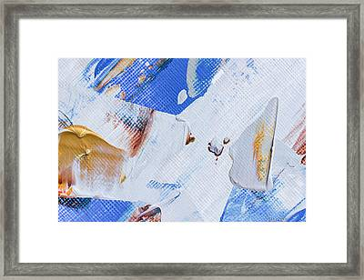 Framed Print featuring the painting A Little Blue by Heidi Smith