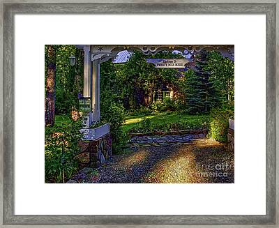 A Little Cottage In The Woods Framed Print by Nancy Marie Ricketts