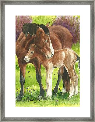 A Little Cuddle Framed Print