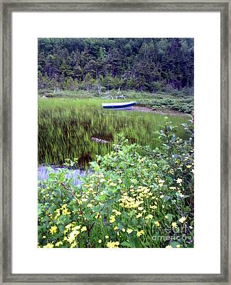 Framed Print featuring the photograph A Little Flat Awaiting by Barbara Griffin