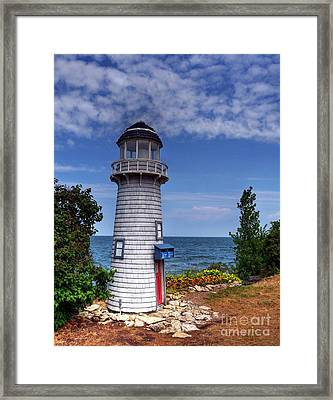 A Little Lighthouse Framed Print by Mel Steinhauer