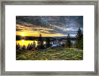 A Little Piece Of Heaven Framed Print by Derek Haller