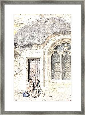 A Little Rest With Scenic View Framed Print by Heiko Koehrer-Wagner