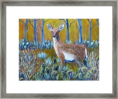 Framed Print featuring the painting A Little Rough Around The Edges by Suzanne Theis