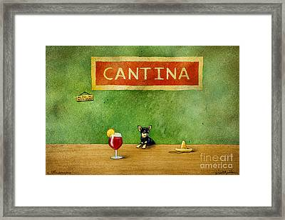a little Sangria... Framed Print