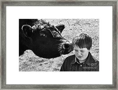 Framed Print featuring the photograph A Little Secret by Barbara Dudley