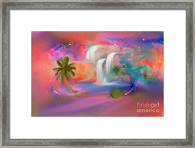 A Little Secret Place In Heaven To Meditate Framed Print
