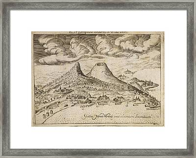A Live And Dormant Volcano Framed Print by British Library