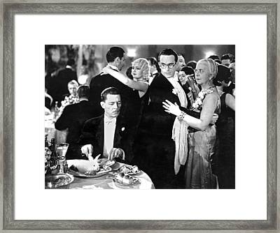 A Live Rabbit Dinner Framed Print by Underwood Archives