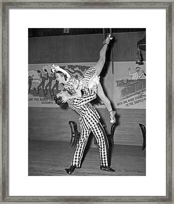 A Lively Dance Performance Framed Print