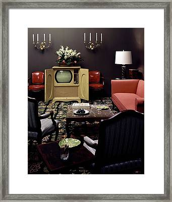 A Living Room Framed Print by Haanel Cassidy