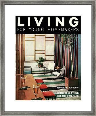A Living Room With Flor-ever Tiles Framed Print
