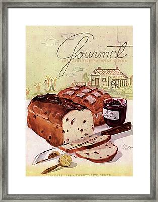 A Loaf Of Raisin Bread Framed Print