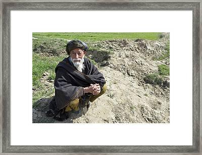 A Local Afghan Man Near A Village Framed Print by Stocktrek Images