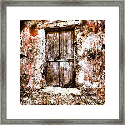 A Locked Door Framed Print by H Hoffman
