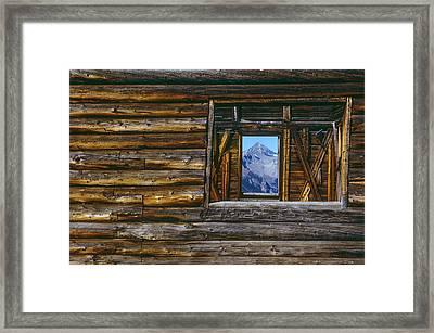 A Log Cabin In Telluride, Colorado Framed Print