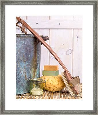 A Long Hot Bath Framed Print