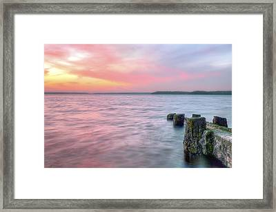A Long Island Sunset Framed Print by JC Findley
