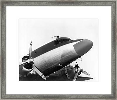 A Long Nose Dc-3 Aircraft Framed Print by Underwood Archives