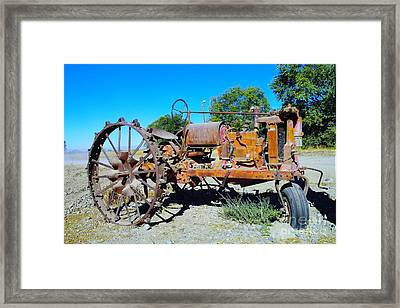 A Long Right Hand Turn  Framed Print