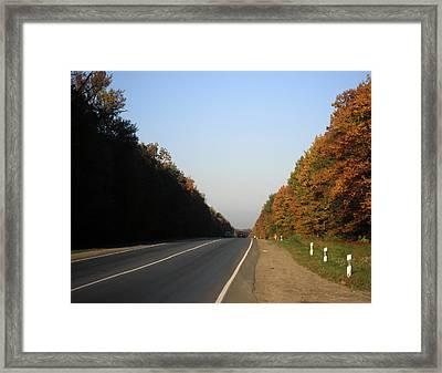 A Long Road Home Framed Print by Taras Humeniuk