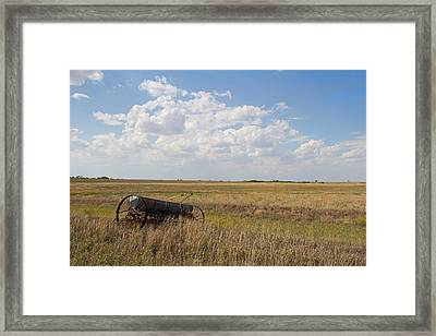 A Long The Field Framed Print