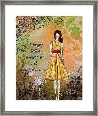 A Longing Fulfilled Framed Print by Janelle Nichol