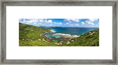 John's Folly Bay From Tradewinds Cottage In St. John Usvi Framed Print