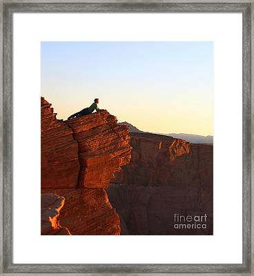 A Look At The Canyon Framed Print by Dipali S