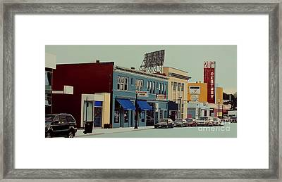 A Look Back At The 20th Century Framed Print by Dan Lockaby