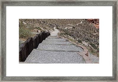 A Look Down Framed Print