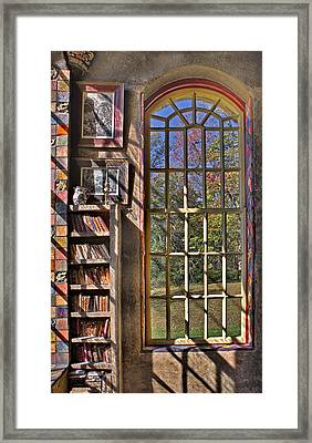 A Look From The Library Framed Print by Susan Candelario