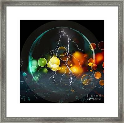 A Look Into The Future By Nico Bielow Framed Print by Nico Bielow