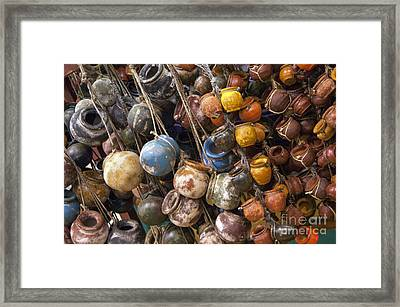 A Lot Of Crock Framed Print by Bob Phillips
