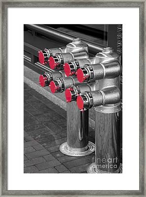 A Lot Of Red Dots Framed Print