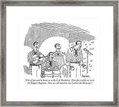 A Lot Of You Used To Know Us As The L.a Framed Print by Jack Ziegler
