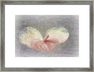 A Love Letter Framed Print